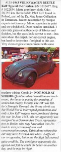 1943 Volkswagen Beetle bid to $220K at auction!